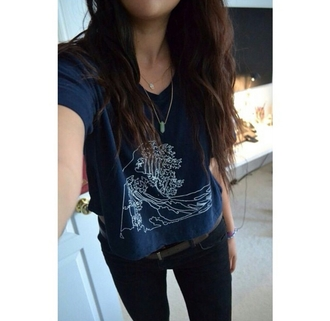 t-shirt graphic tee graphic t-shirt graphic shirt graphic graphics top navy stone necklace casual on point clothing cute stylish styled style trendy trend fashion inspo outfit idea popular popular fashion popular blogger popular clothes blogger bloggerstyle bloggers fashionista fashionable chill rad