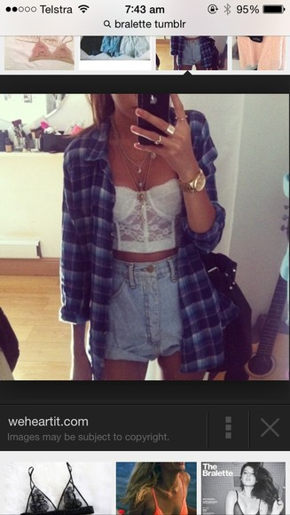 shorts shirt blue shirt denim lace,white,cute,bustier crop tops bralette