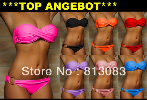 Summer Sexy Bikini Women Swimwear Fashion Occidental Secret Beach Swimsuit Seven Colors S M L #PQ040-in Bikinis Set from Apparel & Accessories on Aliexpress.com