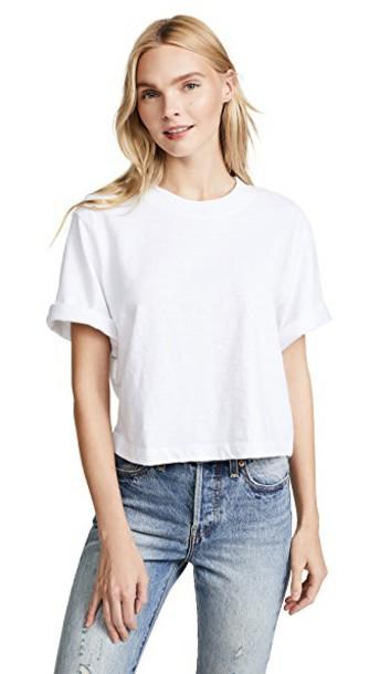 Cotton Citizen crop tee white top