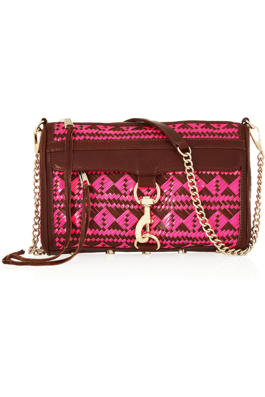 Mac woven leather shoulder bag | Rebecca Minkoff | THE OUTNET