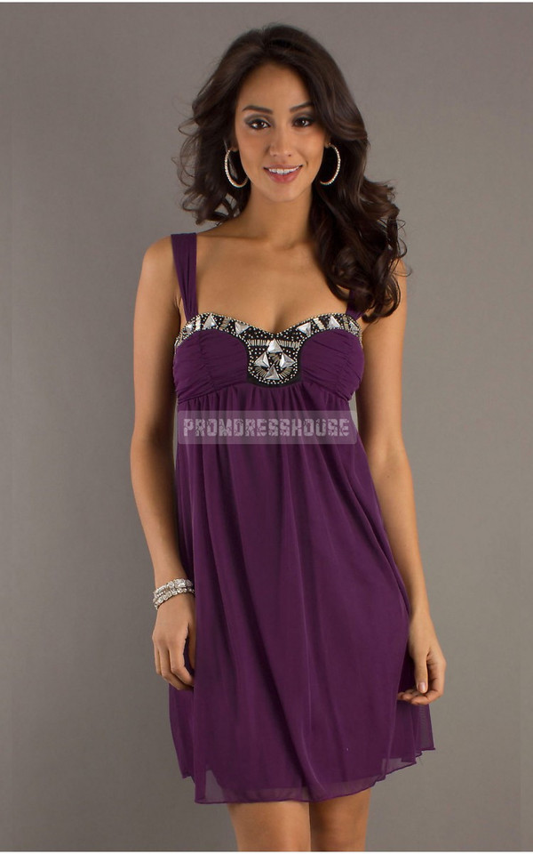 short dress fashion dress cheap dress purple dress women style