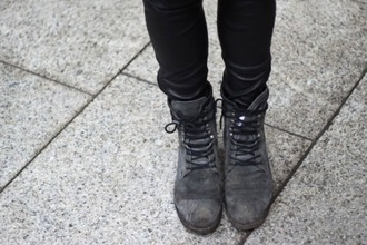 boots grey boots shoes lace up grey grey shoes cute