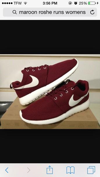 sale retailer c3838 e7fa6 shoes nike roshe maroon burgundy shoes nike roshe run nike burgundy