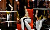 pants,selena gomez,white,black,disney,cute