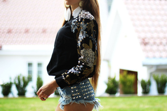 blouse sequin shirt