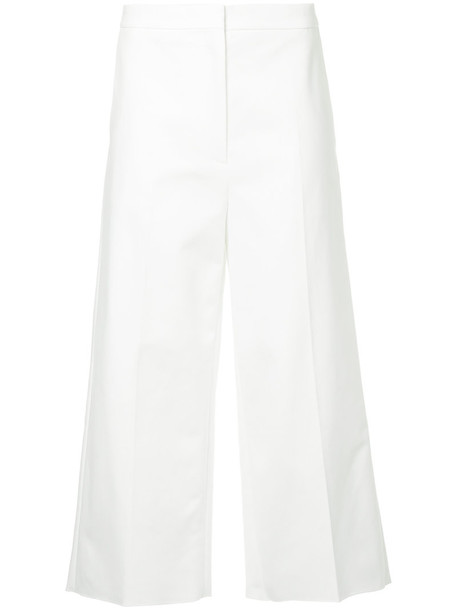 Rochas cropped women spandex white cotton pants