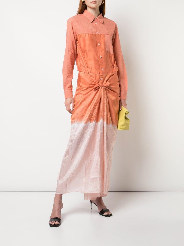 Tie Dye Long Shirt Dress
