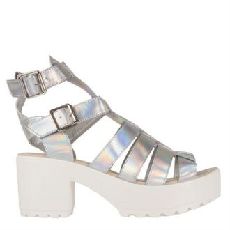 shoes black white chunky platform shoes heels buckles open toes peep toe wedges summer gladiators ankle strap sandals holographic