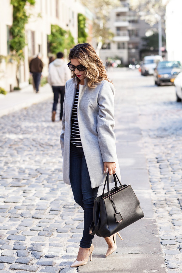 the corporate catwalk blogger bag sunglasses stripes