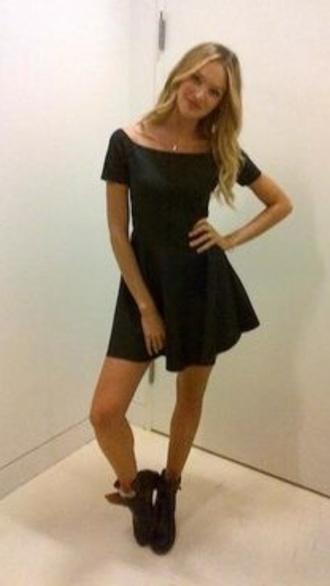 dress candice swanepoel victoria's secret model black dress tumblr shoes