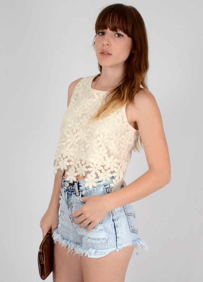 Crazy for daisy crop top