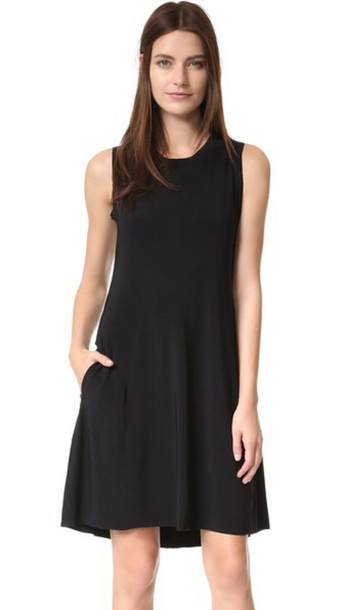 0b22b4785f83f Norma Kamali Kamali Kulture Sleeveless Swing Dress - Black - Wheretoget