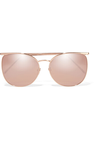 rose gold rose sunglasses mirrored sunglasses gold metallic pink