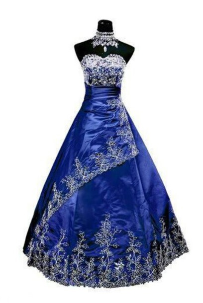 dress prom dress pretty blue