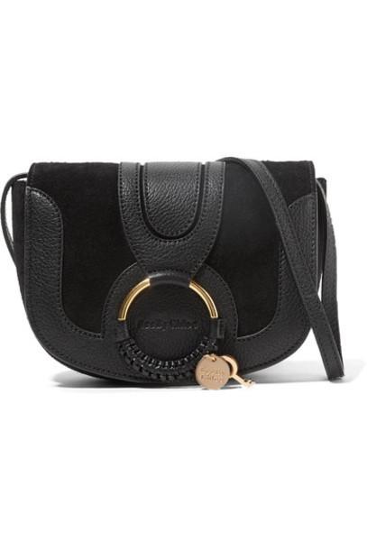 See by Chloe mini bag shoulder bag leather suede black
