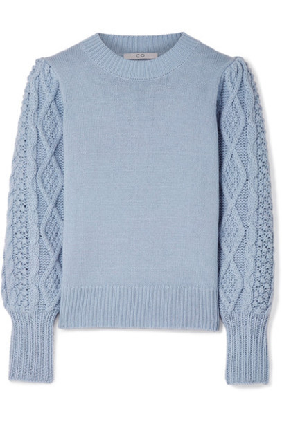 sweater light blue wool light blue