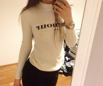 shirt mode d'amour pullover white top