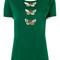 Dolce & gabbana - butterfly t-shirt - women - cotton/polyester - 42, green, cotton/polyester