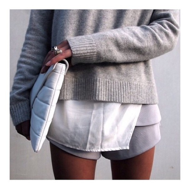 sweater grey love hot tumblr white bag fashion grey sweater tumblr outfit legs