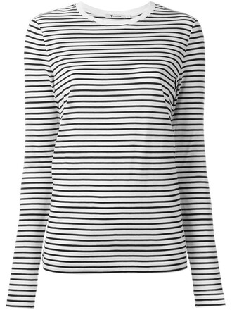 t-shirt shirt striped t-shirt white top