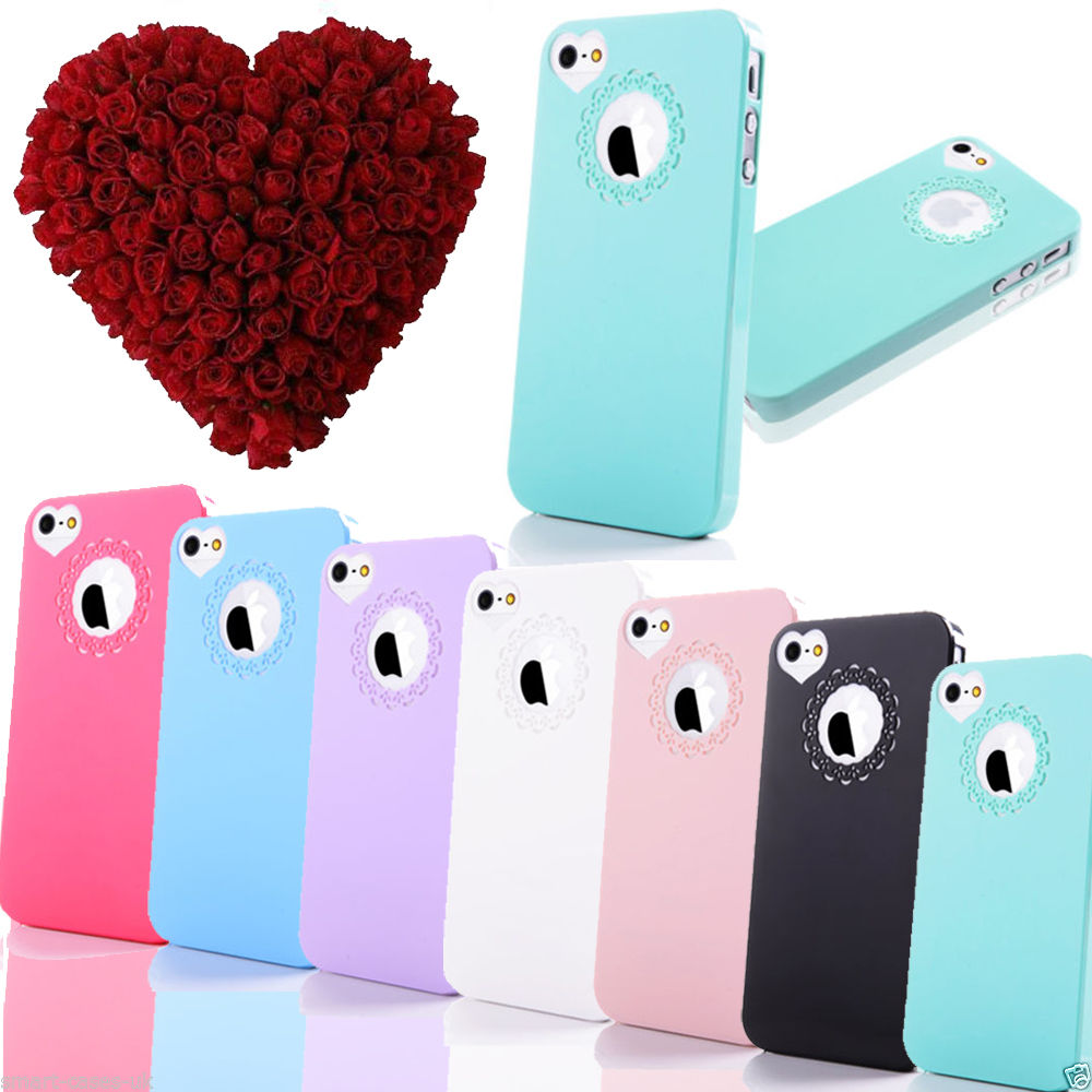 ULTRA THIN HARD CUTE HEART LOVE CASE FOR APPLE IPHONE 5S 5 4 4S COVER