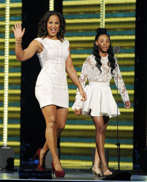 dress mone davis soul train awards baseball floral top floral dress white dress prom dress