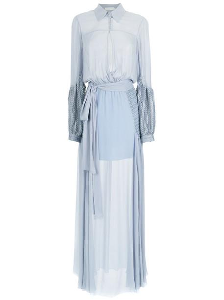 Giuliana Romanno dress silk dress maxi women silk