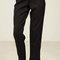 High waist clean cut pants - black