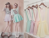 skirt,cute,beautiful,pastel,clothes,skater skirt,purple,pink,yellow,green,irange,orange,suspendera,orange shoes,dress,colorful,overalls,sweet,overall skirt,shirt,shoes,pastel grunge,soft grunge,soft,pastel skirt,pastel purple dress,girly,short skirt,hipster,pastel color skirt,pastel goth,gloves,hat,jacket,home accessory