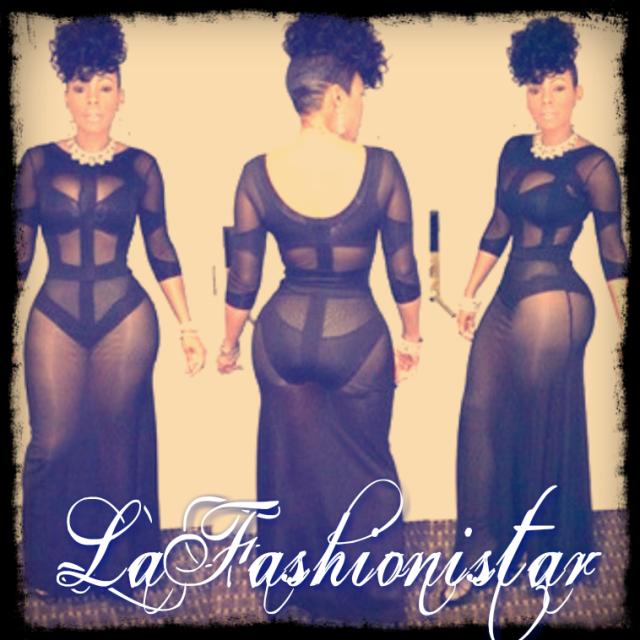 Celebrity Sheer Bodycon Patchwork Dress - LaFashioniStar's