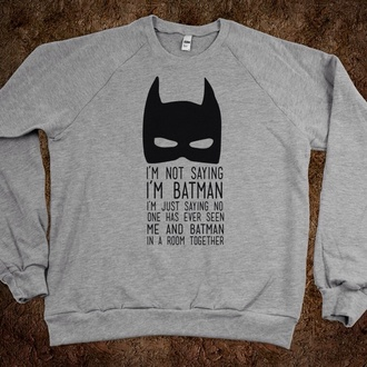 shirt grunge soft grunge converse grunge crop top infinity h&m hippie indie hipster 90s style cool shirts funny sweater sweater batman grey batman sweater funny text quote on it grey hoodie grey mask