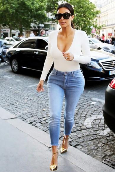 bodysuit jumpsuit romper kim kardashians