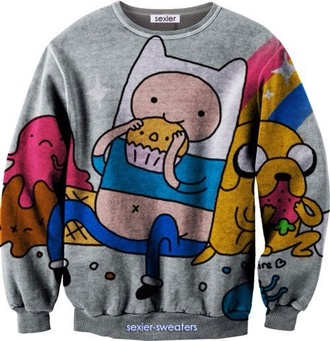 sweater sexier sweaters adventure time cute adventure time sweater bag shirt adventure time shirt