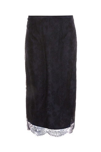 skirt pencil skirt lace black