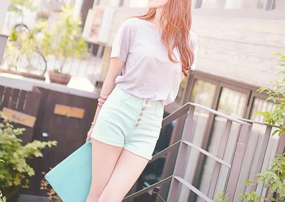 mint ulzzang casual korean fashion asian