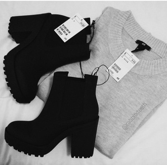 shoes wedges black black boots