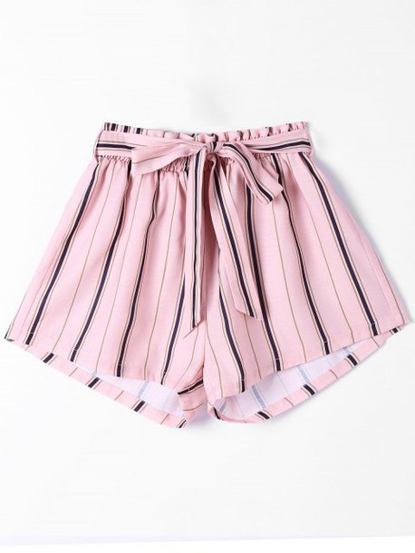 shorts pink style stripes