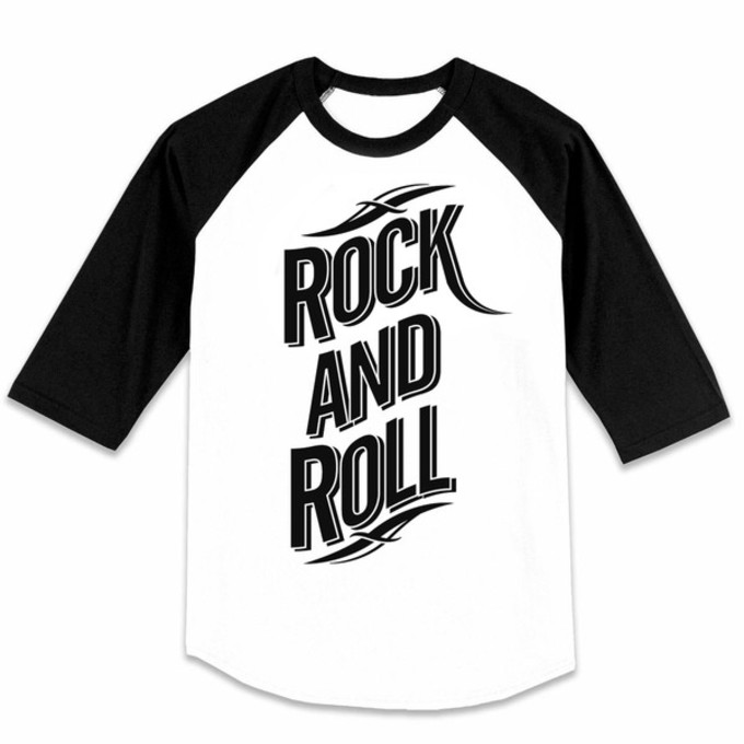 T Shirt Shirt Tattoo Rock Black And White Music Baseball