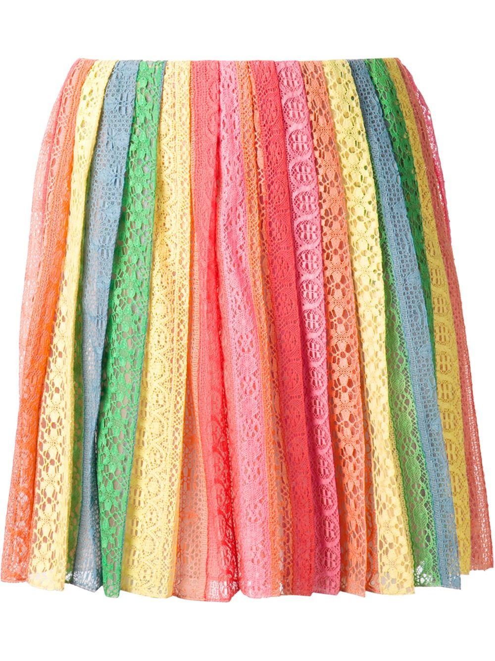Valentino striped broderie anglaise skirt