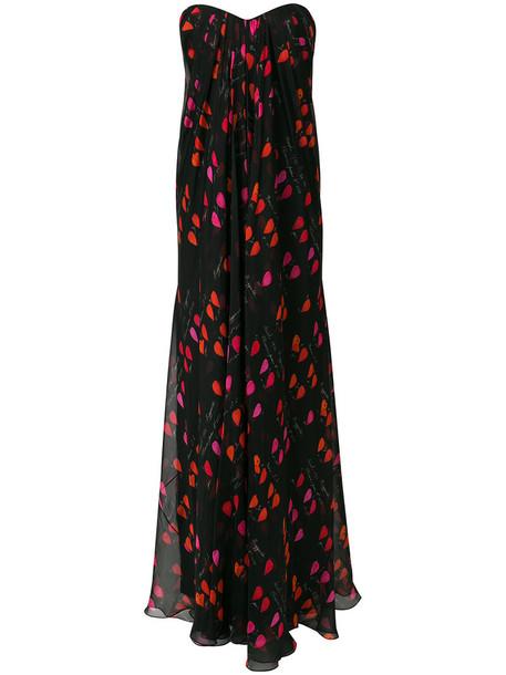Alexander Mcqueen dress evening dress strapless women spandex black silk