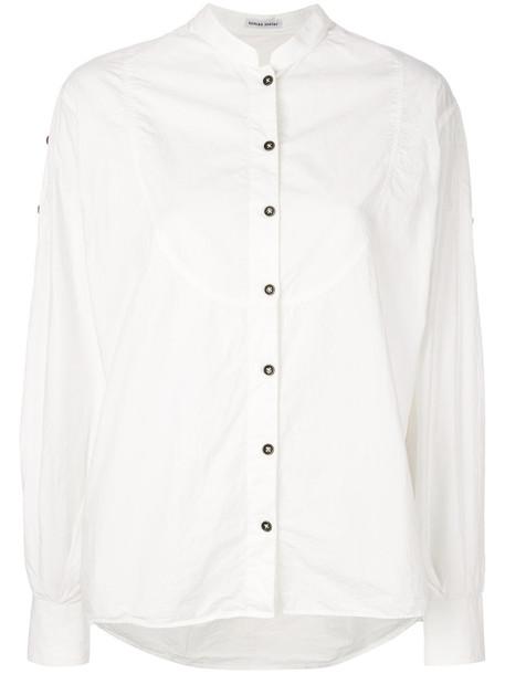 Tomas Maier blouse women white cotton top