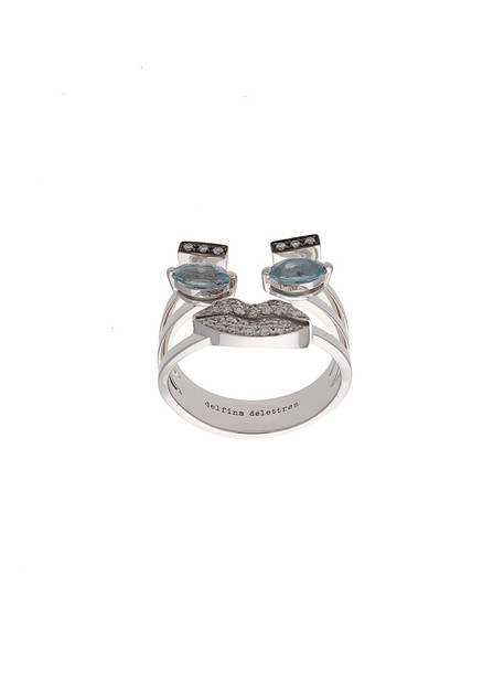 Delfina Delettrez women ring gold silver white grey metallic jewels