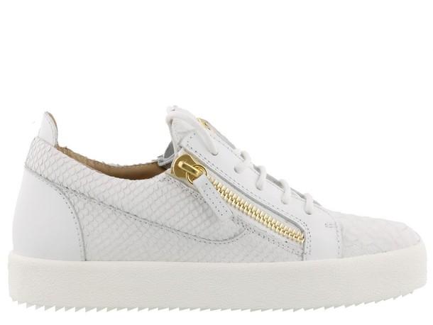 Giuseppe Zanotti london white shoes