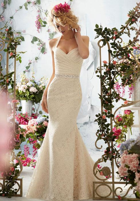 Cheap Lace Wedding Dress - Discount 2015 Chic Ivory Lace Mermaid Wedding Dresses Sexy Online with $146.6/Piece | DHgate