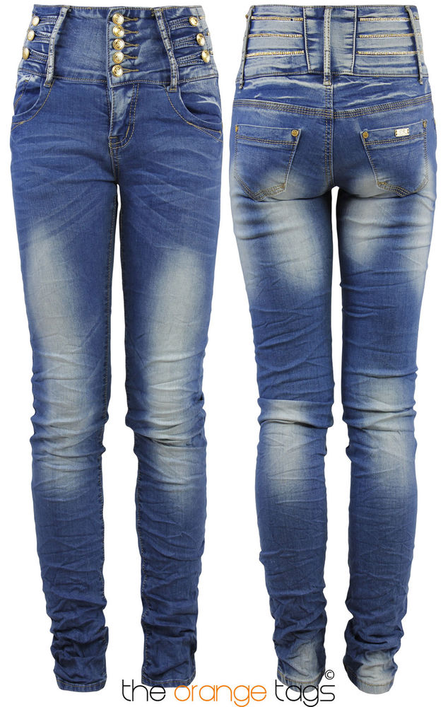 NEW LADIES SKINNY SLIM FIT STRETCHY HIGH WAISTED JEANS WOMENS TROUSERS | eBay