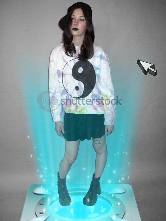 YARD666SALE yin yang jumper YARD666SALE