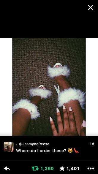 shoes fur heels