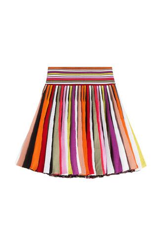 skirt knit multicolor