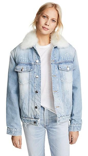 IRO.JEANS jacket denim blue